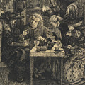 Dr Johnson At The Mitre by Dante Gabriel Charles Rossetti
