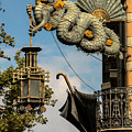 Dragon And Umbrella Sing In Barcelona by RicardMN Photography
