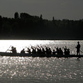 Dragon Boat Silhouette by Stuart Turnbull