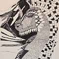 Dragon - Zentangle 16-04 by Maria Urso