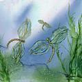 Dragonflies At Dusk by Debora Boudreau