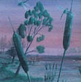Dragonflies In The Dusk by Robert Meszaros