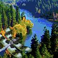 Dragonflight Over The Spokane River by Ben Upham III