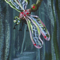 Dragonfly From River Mural by Dawn Senior-Trask