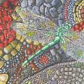 Dragonfly On Stone Path by Samantha Rochard