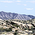 Dragoon Mountains Panorama by Sharon Broucek