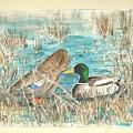 Drake And Hen by Diane Ziemski
