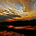 Drama In The Sky At The Sunset Hour by Carol F Austin