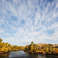 Dramatic Clouds Over Boise River In Boise Idaho by Vishwanath Bhat