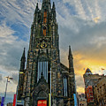 Dramatic Edinburgh Sunset At The Hub In Scotland  by Ina Kratzsch