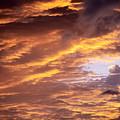 Dramatic Orange Sunset by Carl Shaneff - Printscapes