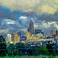 Dramatic Sky With Clouds Over Charlotte Skyline by Alex Grichenko