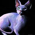 Dramatic Sphynx Cat Print Painting by Svetlana Novikova