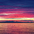 Dramatic Sunset Colors Over Birch Bay by David Gn
