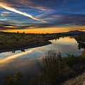 Dramatic Sunset Over Boise River Boise Idaho by Vishwanath Bhat