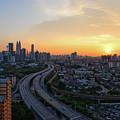 Dramatic Sunset Over Kuala Lumpur City Skyline by Mohd Ezairi Mohd Amiruddin
