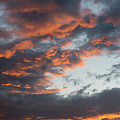 Dramatic Sunset Sky With Orange Cloud Colors by Michalakis Ppalis