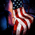 Draped American Flag by Julian Starks
