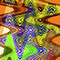 Drawing Color Squares Abstract by Tom Janca