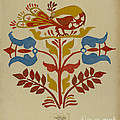 """Drawing For Plate 4: From Portfolio """"folk Art Of Rural Pennsylvania"""" by American 20th Century"""