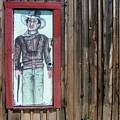 Drawing John Wayne Hondo  Medicine Horse Black Canyon City Arizona 2005 by David Lee Guss