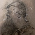 Drawing Of A Stagehand by Michael Lane
