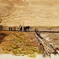 Drawing The Seine 1882 by Eakins Thomas
