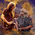 Dream Colors  Jerry Garcia Greatful Dead by Iconic Images Art Gallery David Pucciarelli