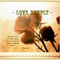 Dreams In Roses - Vintage - Verse by Anita Faye