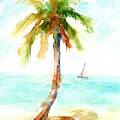 Dreamy Tropical Beach Palm by Carlin Blahnik CarlinArtWatercolor