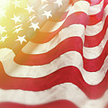 Dreamy Usa Flag 1 by Les Cunliffe