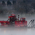 Dredge In Fog 2 by Laurence Nuelle