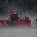Dredge In Fog 3 by Laurence Nuelle