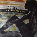 Dredlocks Woman Sitting By The Ocean by Love Art Wonders By God