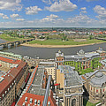 Dresden And The Elbe River Panorama by Darrel Giesbrecht