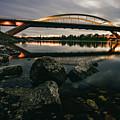 Dresden Waldschloesschenbridge Sunset by Franz Kostall