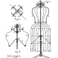 Dress Form Patent 1891  by Bill Cannon