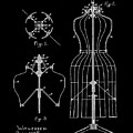Dress Form Patent 1891 Black by Bill Cannon