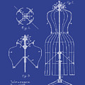 Dress Form Patent 1891 Blue by Bill Cannon
