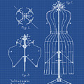 Dress Form Patent 1891 Blueprint by Bill Cannon