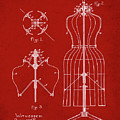 Dress Form Patent 1891 Red by Bill Cannon