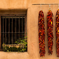 Dried Chilis And Window by Jerry Fornarotto