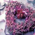 Dried Flower Heart Wreath by Garry Gay