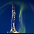 Drilling Rig Saskatchewan by Mark Duffy