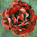 Dripping Poster Rose On Green by Yury Malkov