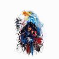 Drippy Jazzy Bald Eagle Colorful Bird Art By Jai Johnson by Jai Johnson