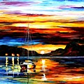 Drowned Sunset by Leonid Afremov
