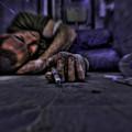 Drug Addict Shooting Up by Guy Viner
