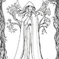 Druid Woman Shush by Katherine Nutt