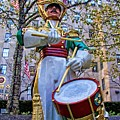 Drummer Boy  In Rockefeller Center by Alice Gipson
